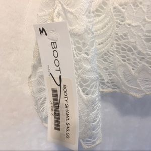 Booty Shawl Swim - 5/$20 Booty Shawl White Lace Swim Coverup